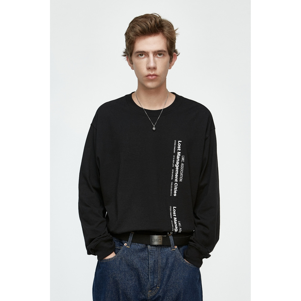 LMC VERTICAL MIL LONG SLV TEE black