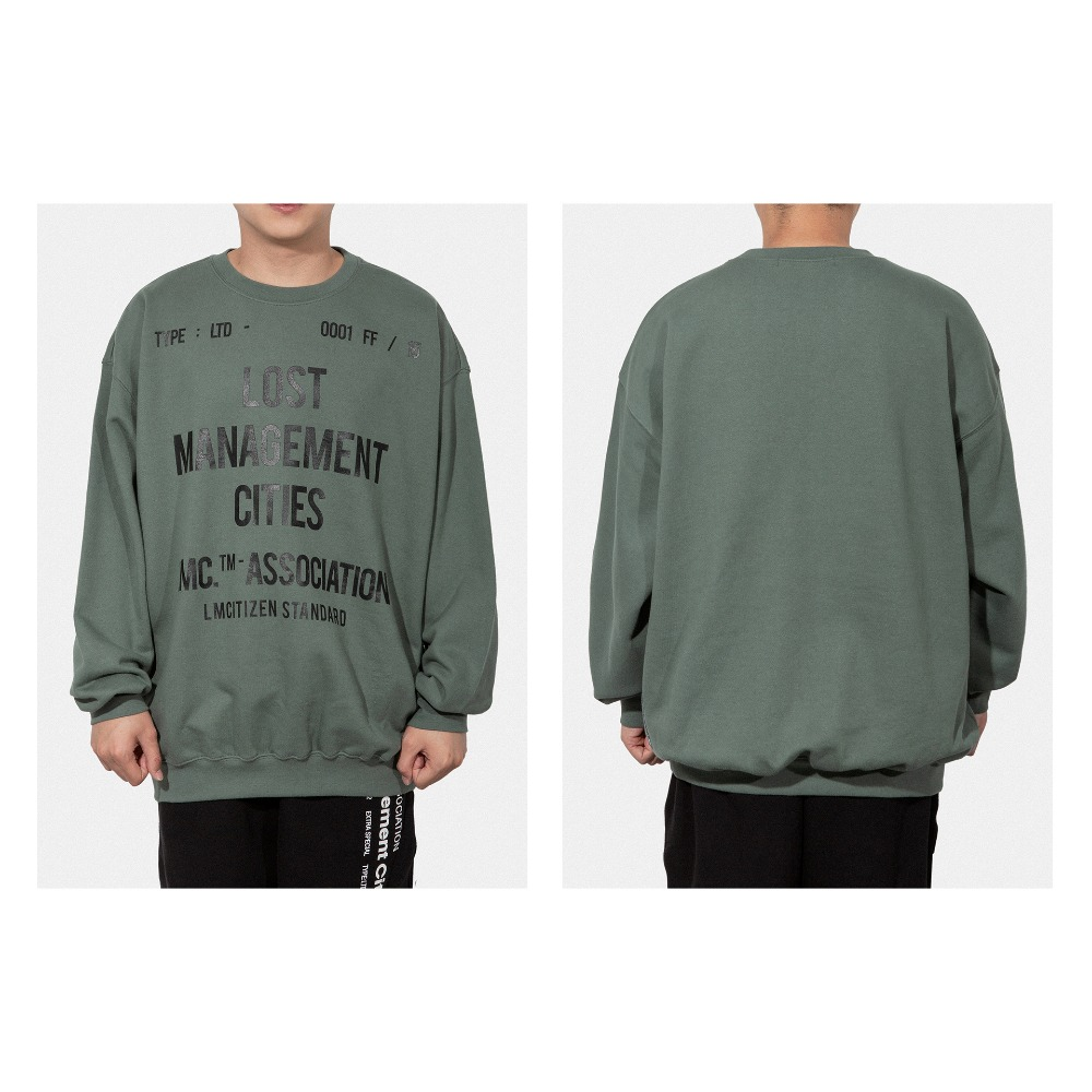 LMC DOCUMENT OVERSIZED SWEATSHIRT olive