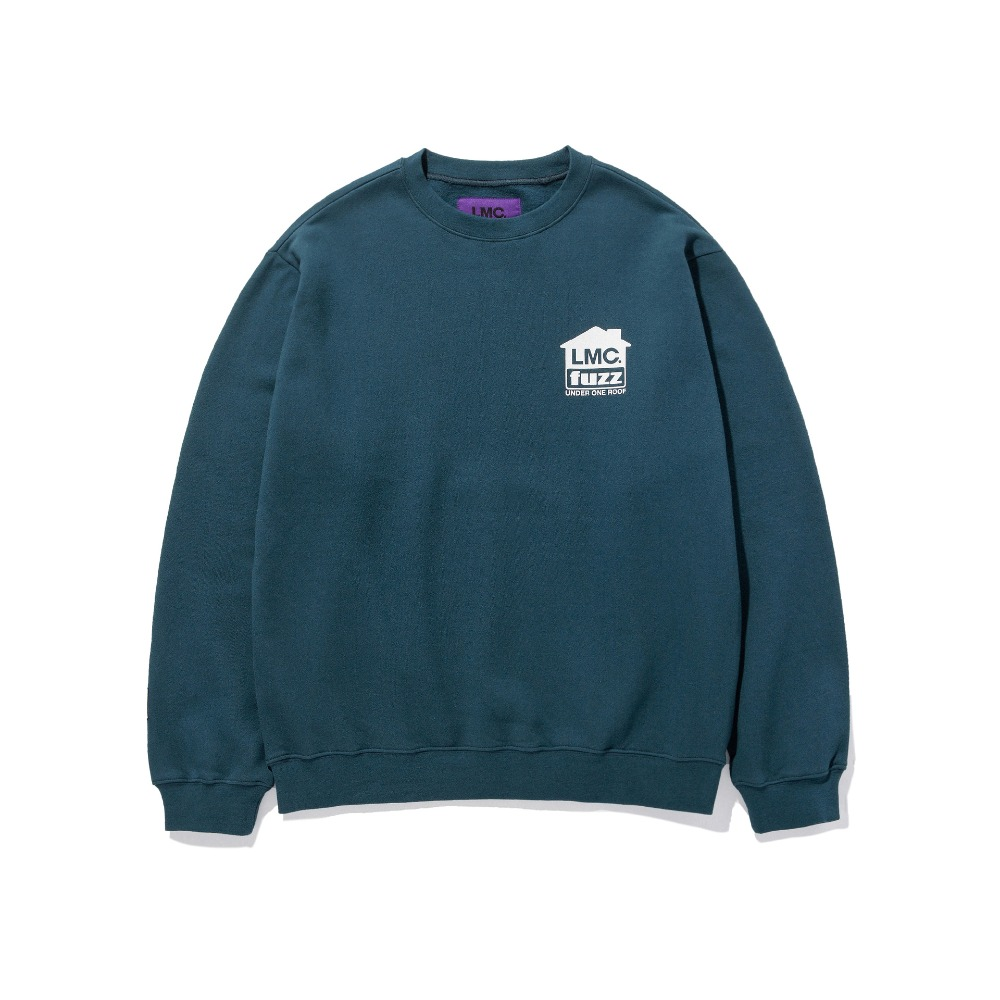 LMC x FUZZ HOUSE SWEATSHIRT teal green