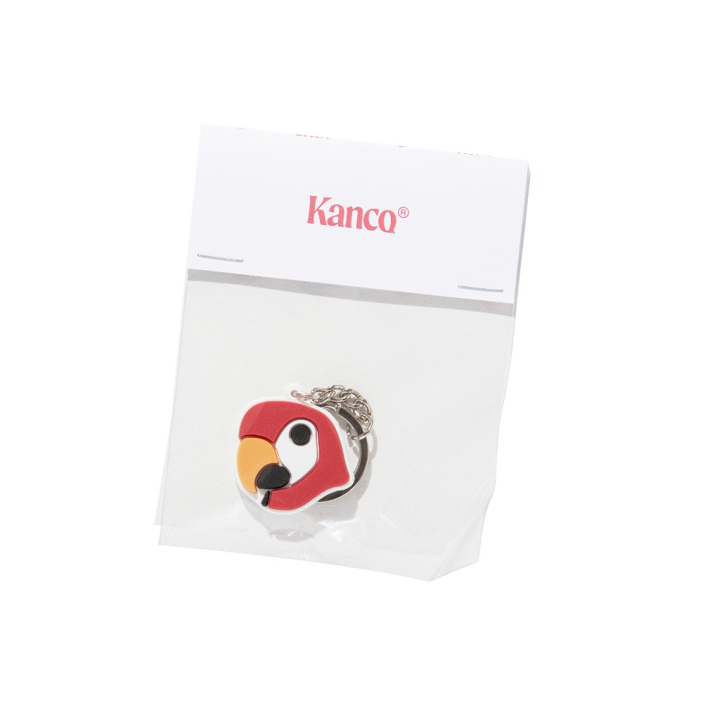 KANCO HEAD RUBBER KEYRING white