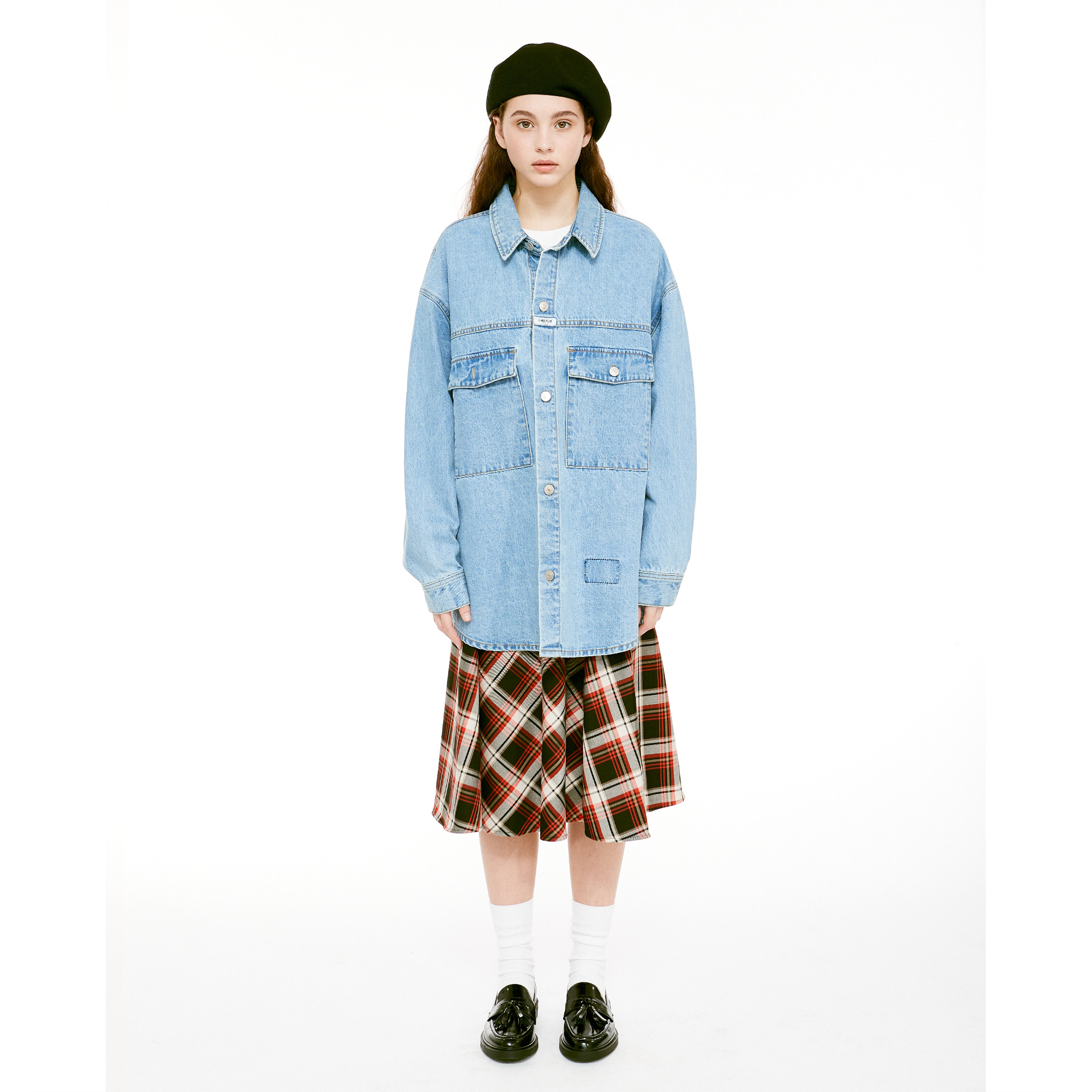 MFG DENIM OVERSHIRT stone blue