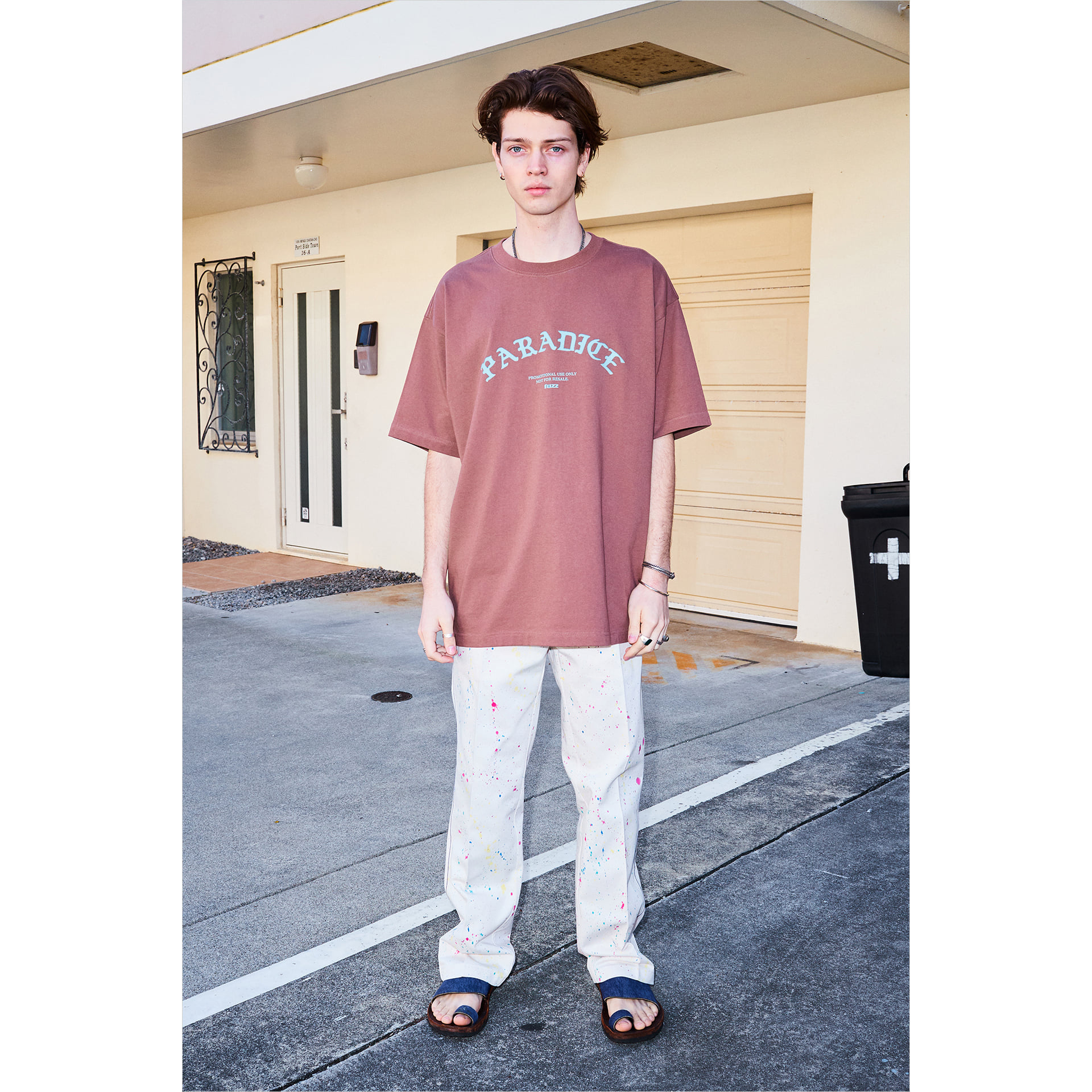 FUZZ ARCH PARADICE TEE milk brown