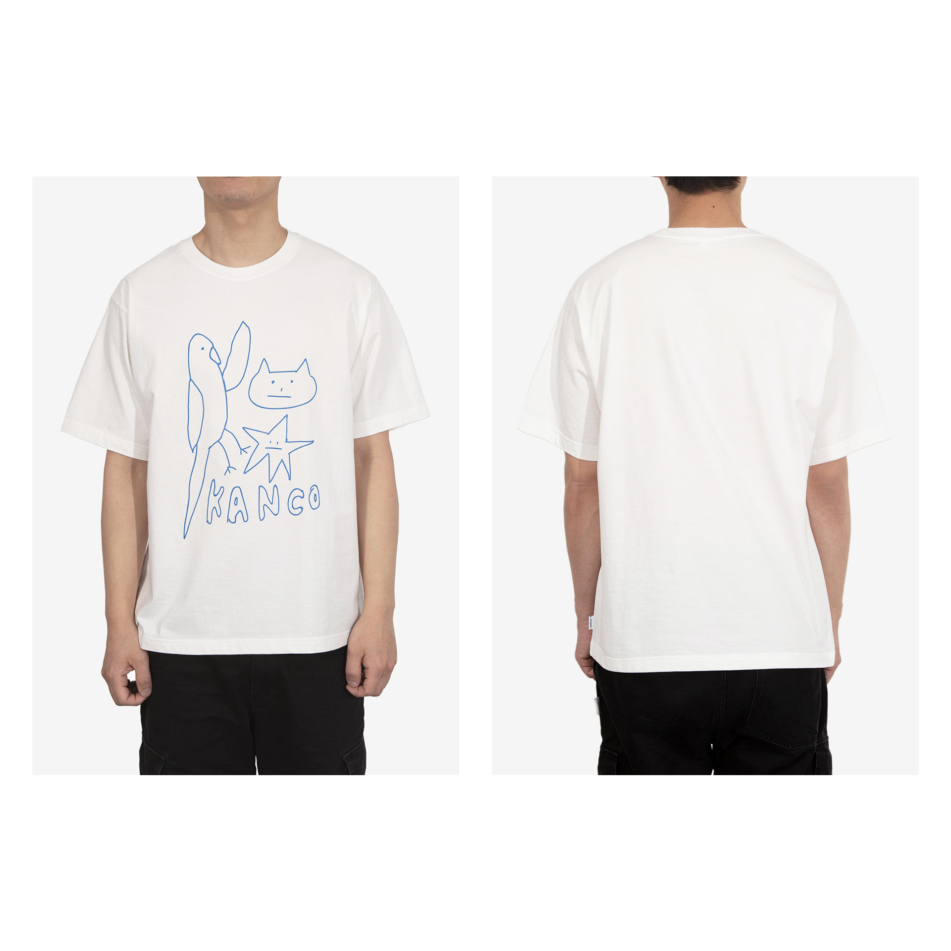KANCO UNISEX DRAWING TEE white