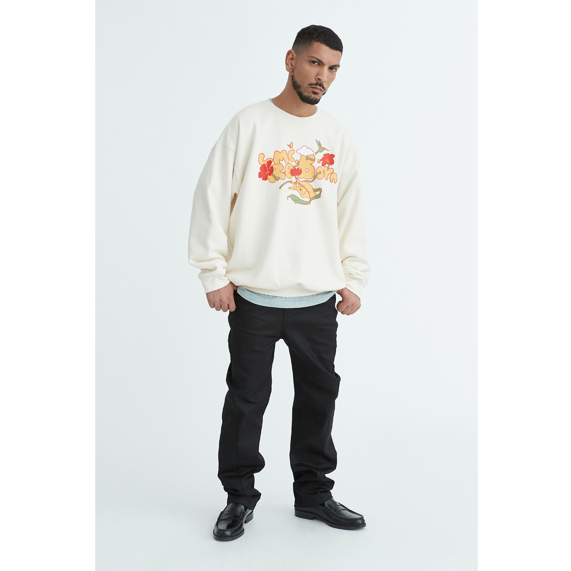 LMC REBORN OVERSIZED SWEATSHIRT cream