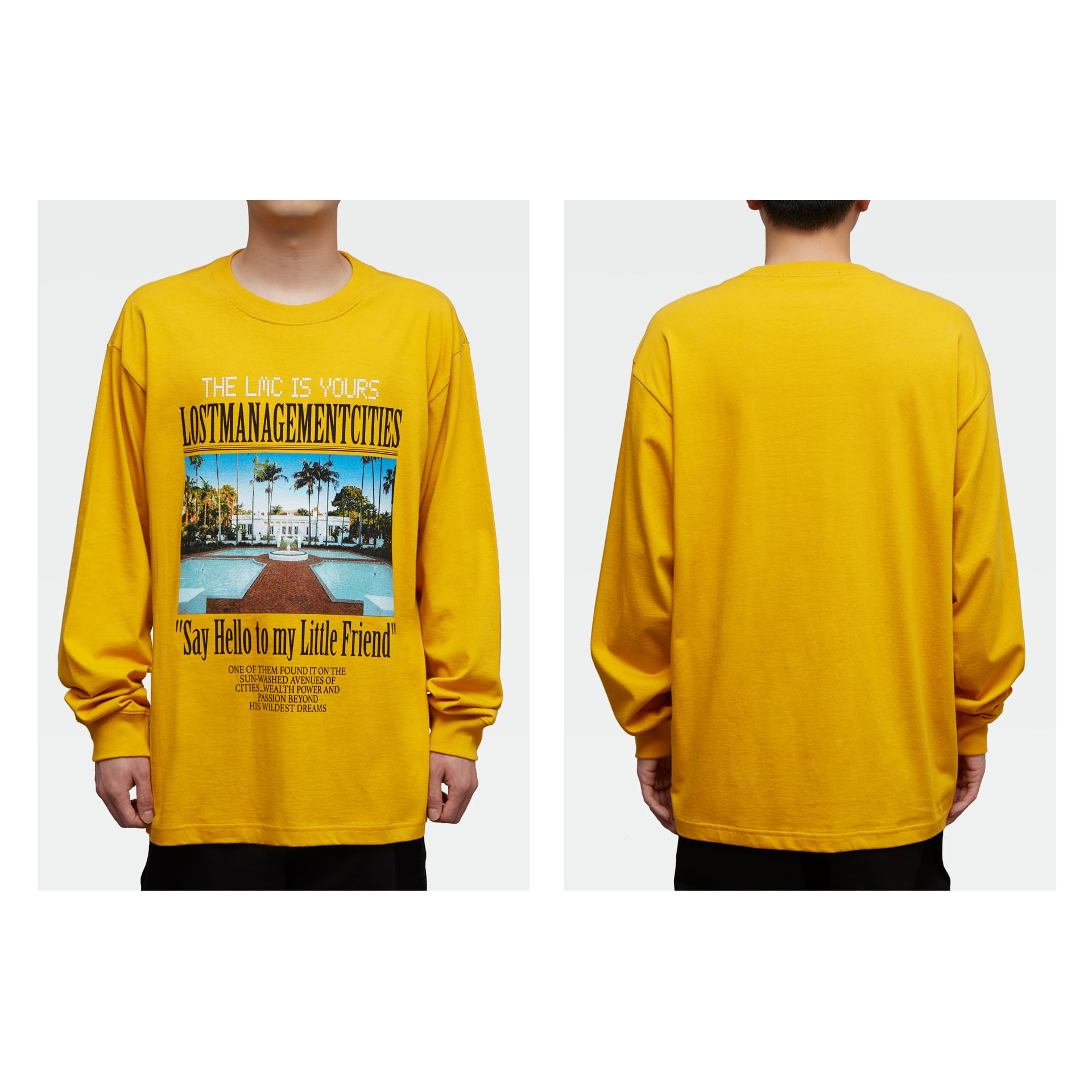 LMC MANSION LONG SLV TEE yellow