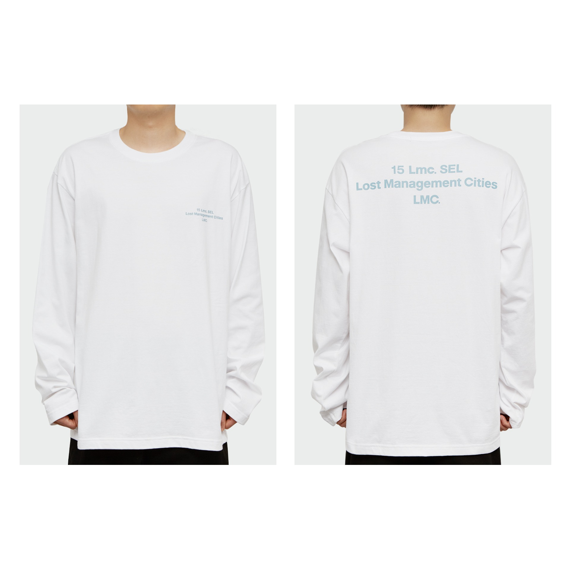 LMC 15SEL LONG SLV TEE white