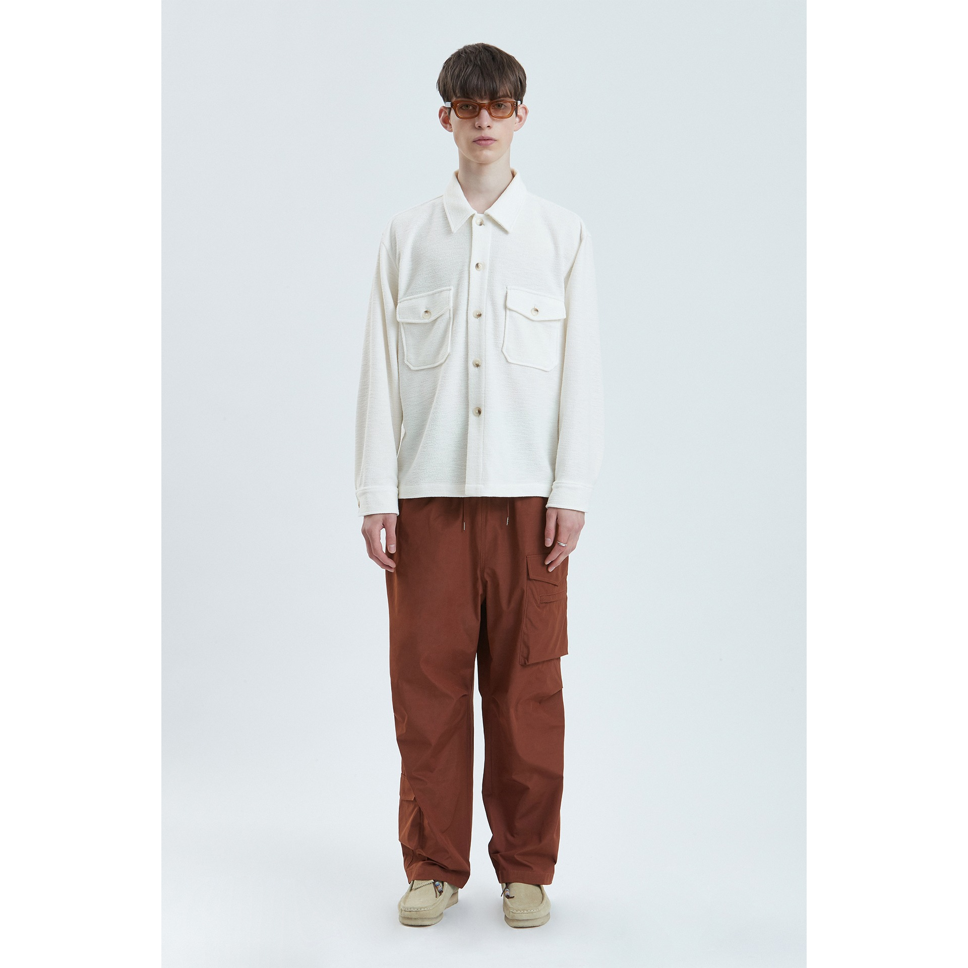 LIFUL TWO POCKET SHIRT JACKET off white