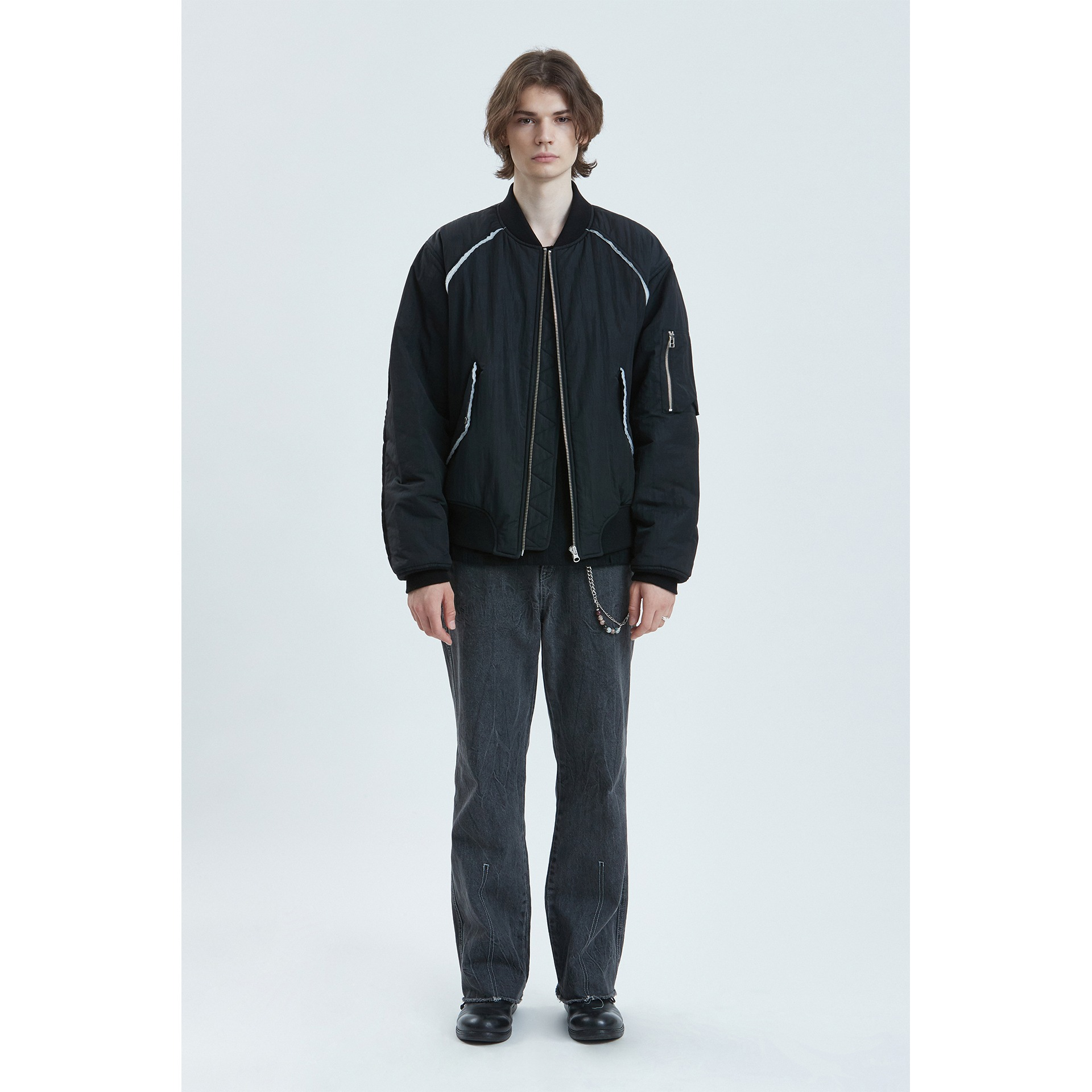 LIFUL MA-1 PADDED BOMBER JACKET black