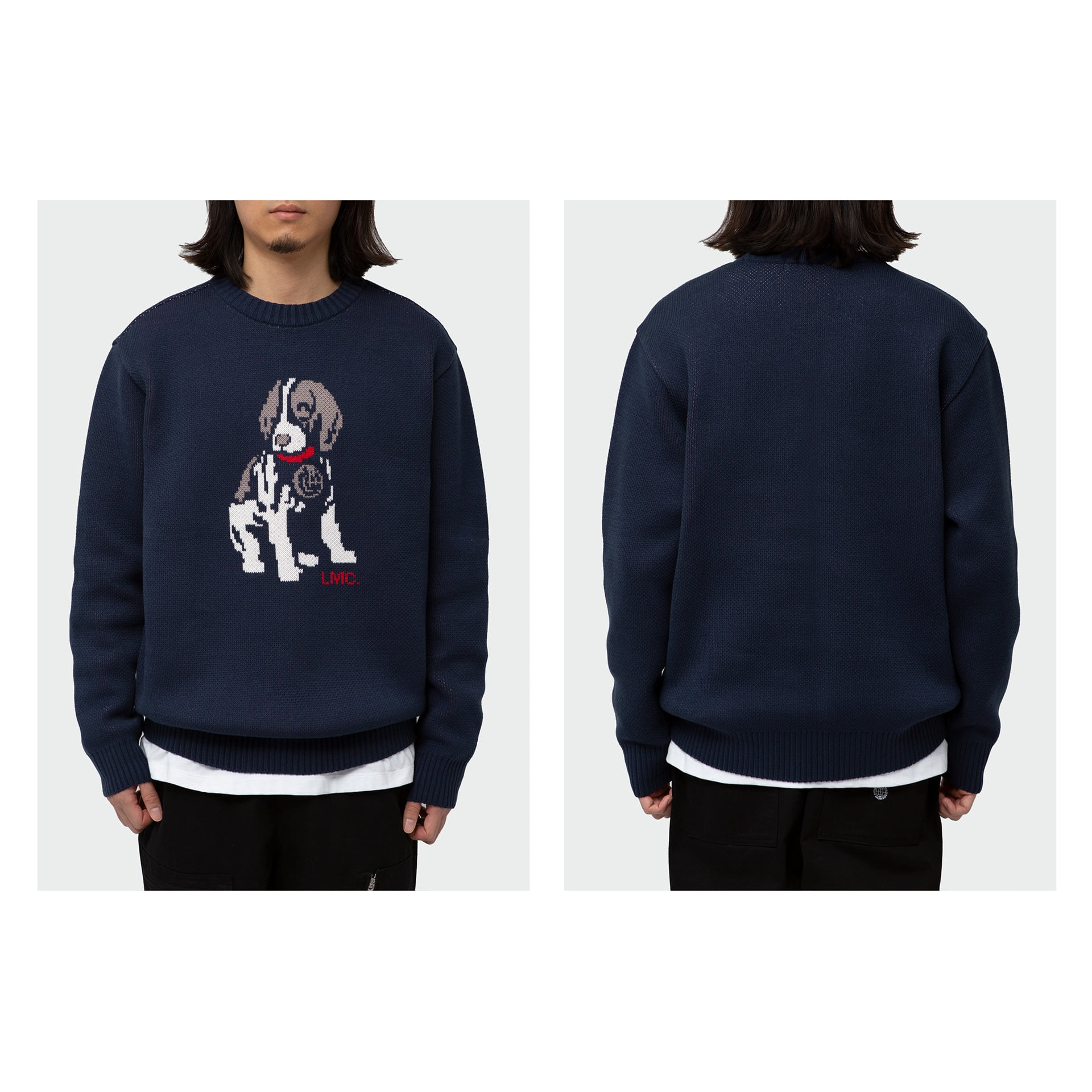 LMC BEAGLE KNIT SWEATER navy