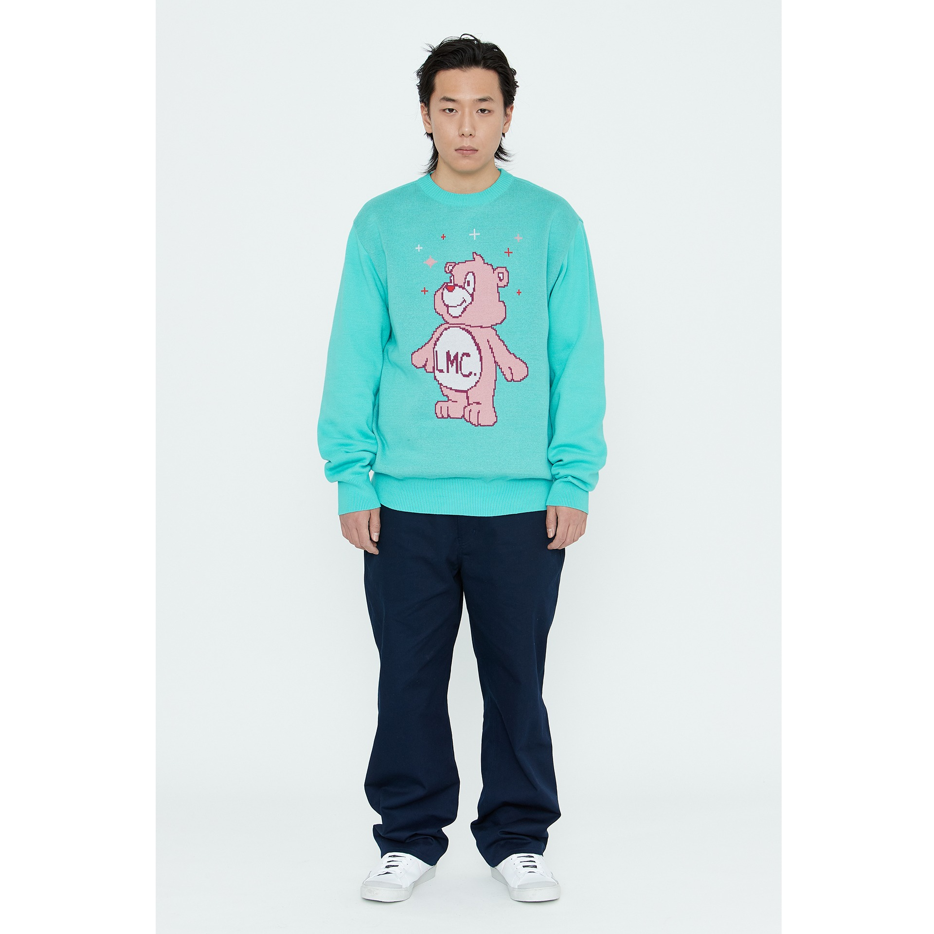 LMC BEAR KNIT SWEATER mint