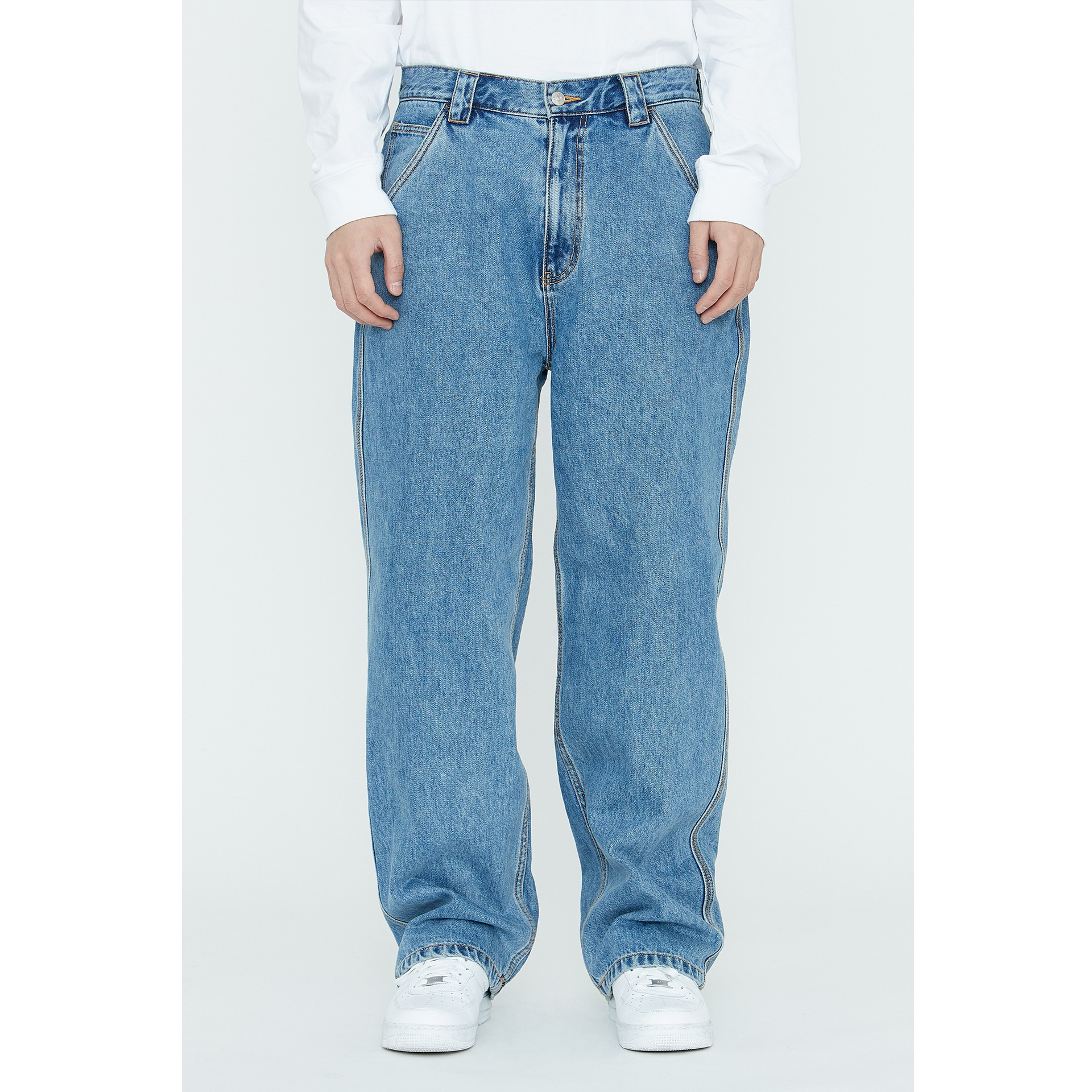 LMC DIAMOND STITCH DENIM WORK PANTS blue