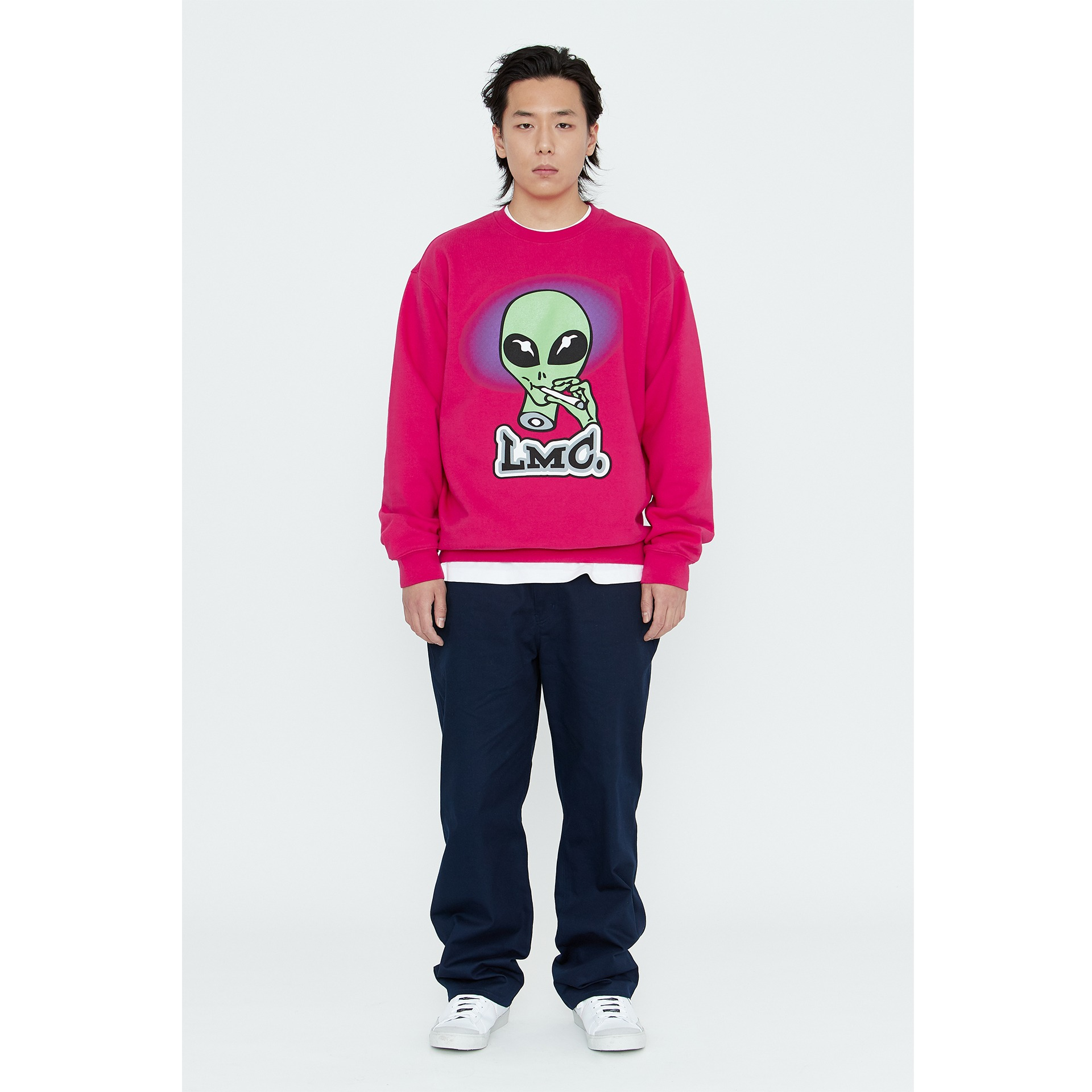 LMC SMOKING ALIEN SWEATSHIRT pink