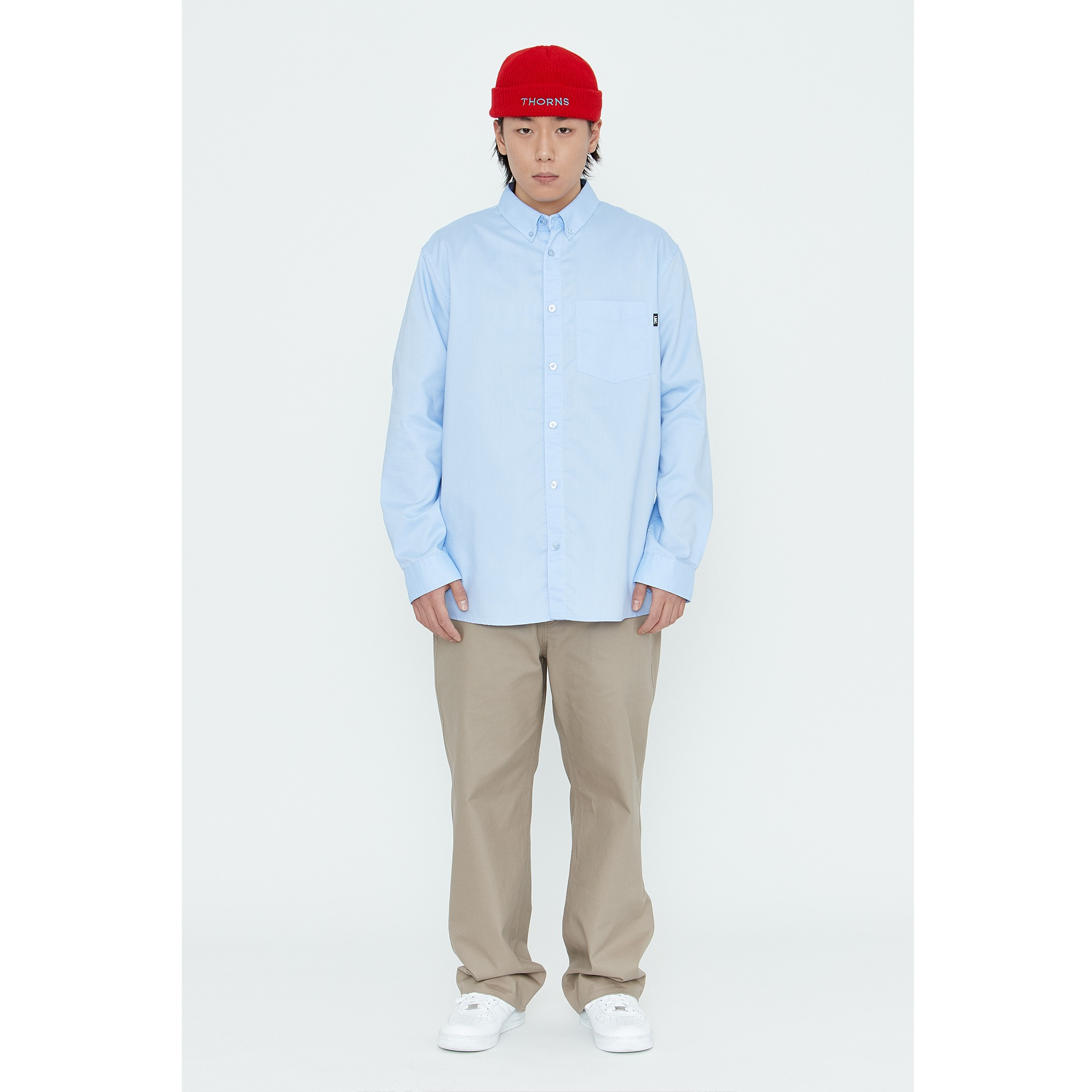 LMC OXFORD BASIC SHIRT blue