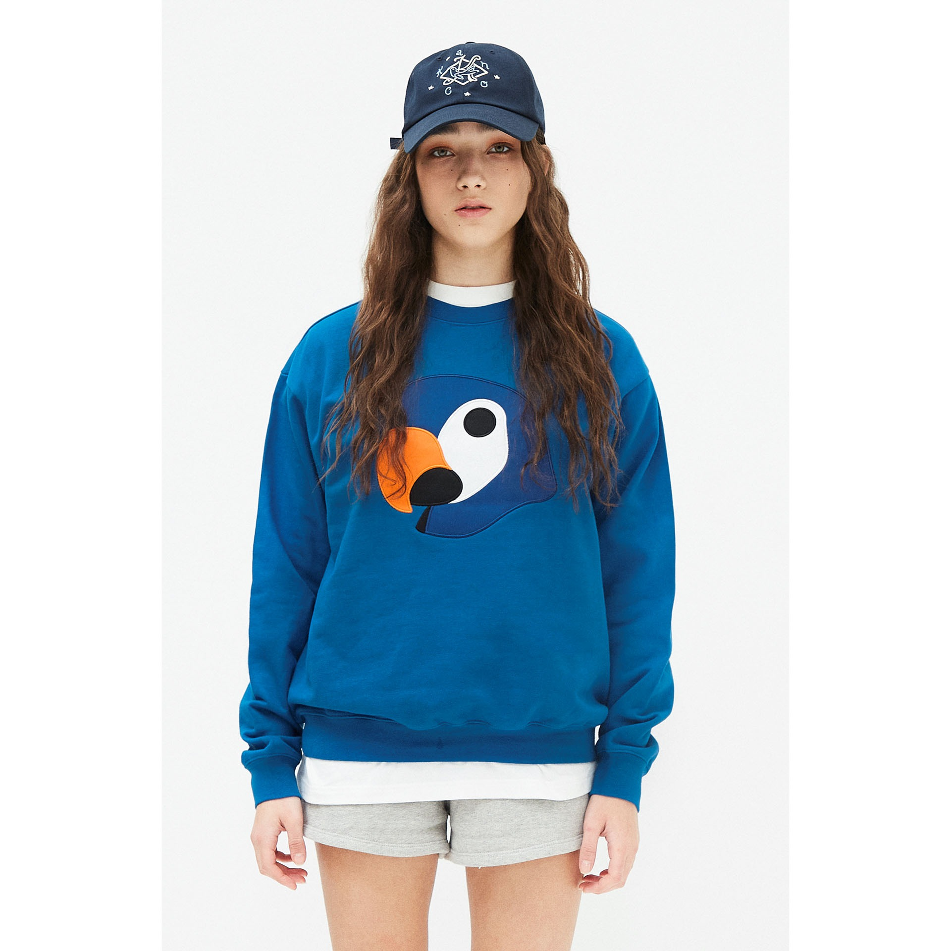 KANCO APPLIQUE SWEATSHIRT blue