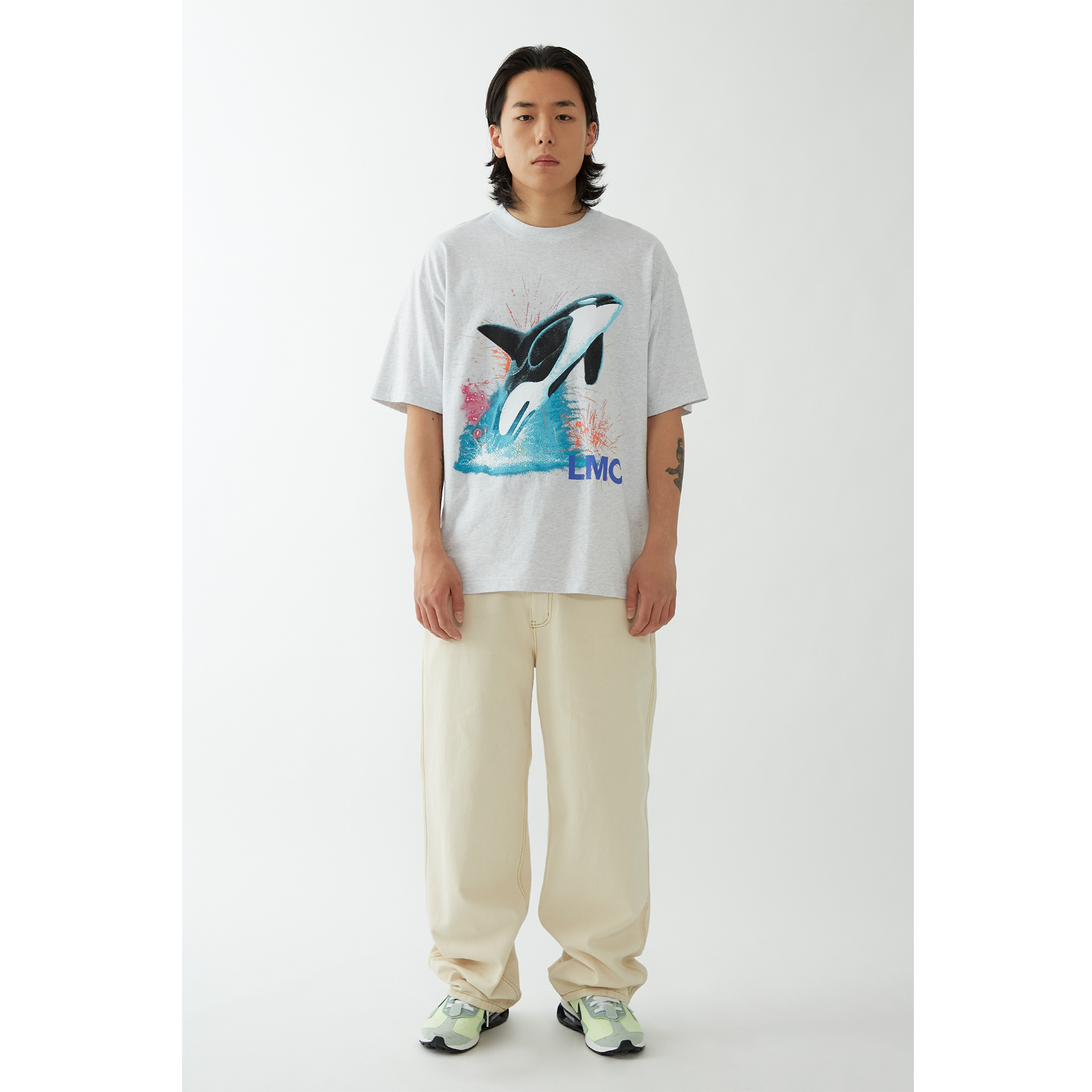 LMC ORCA TEE lt. heather gray