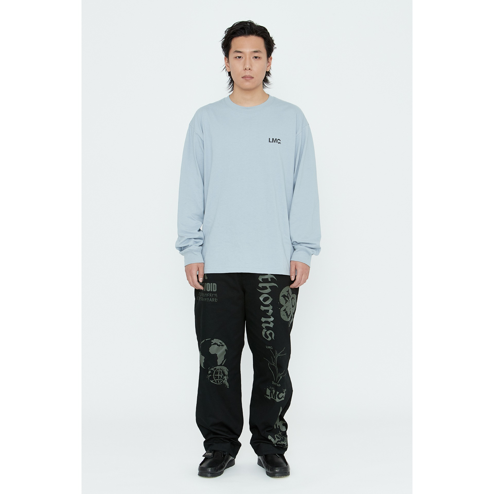 LMC BASIC OG LONG SLV TEE blue gray