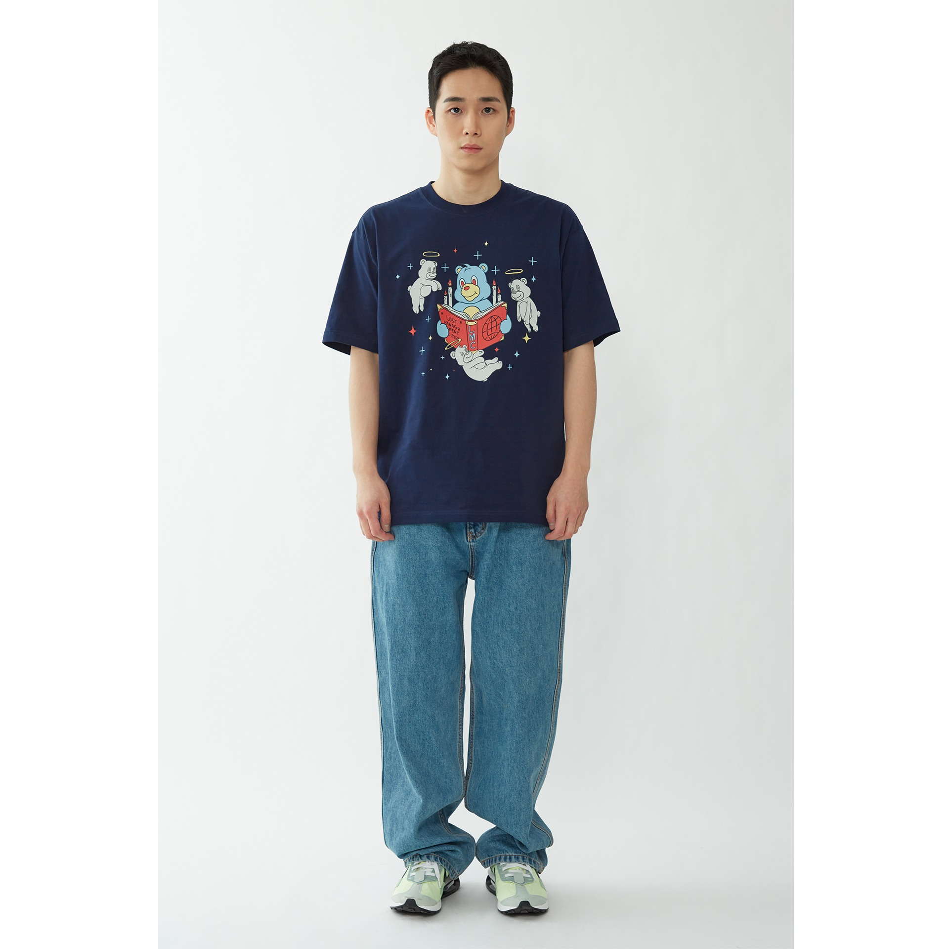 LMC GHOST BEARS TEE navy