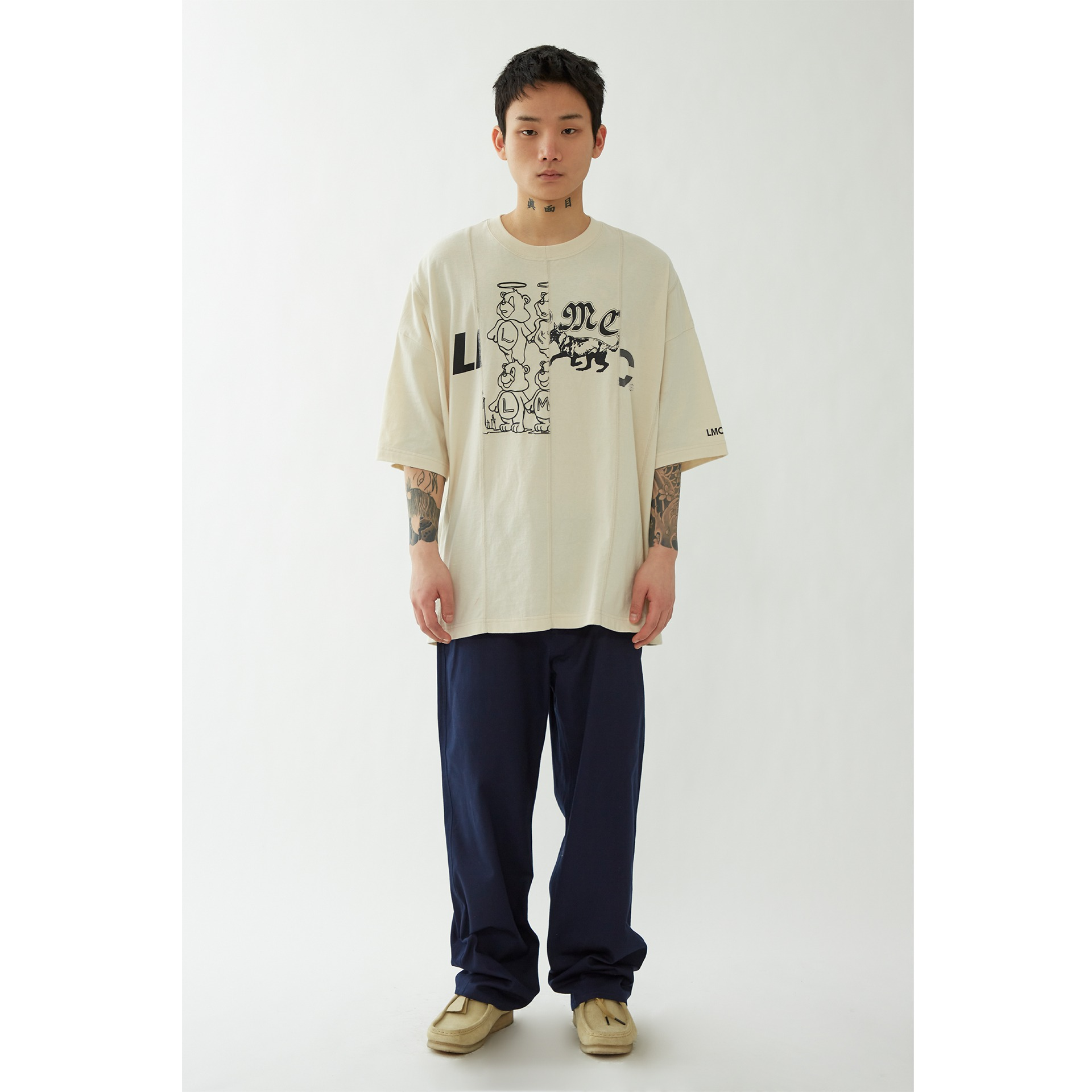 LMC REWORKED OVERSIZED TEE cream