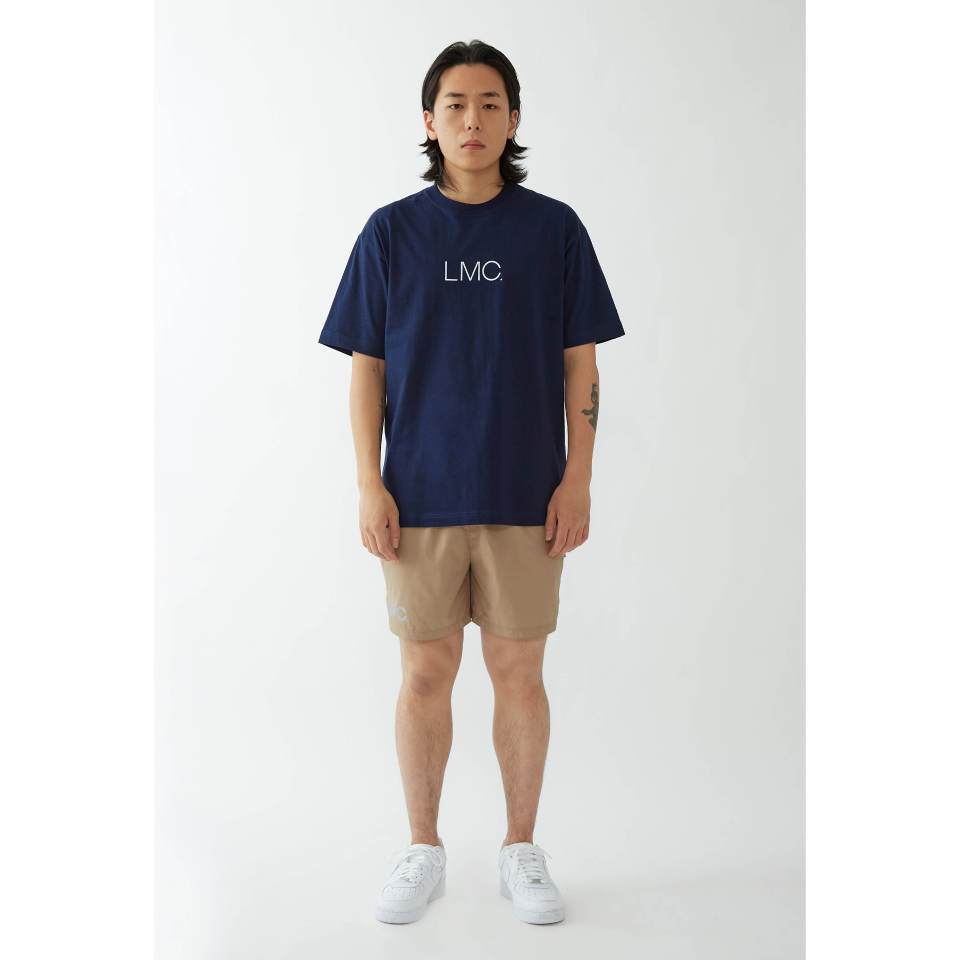 LMC THIN LOGO TEE navy
