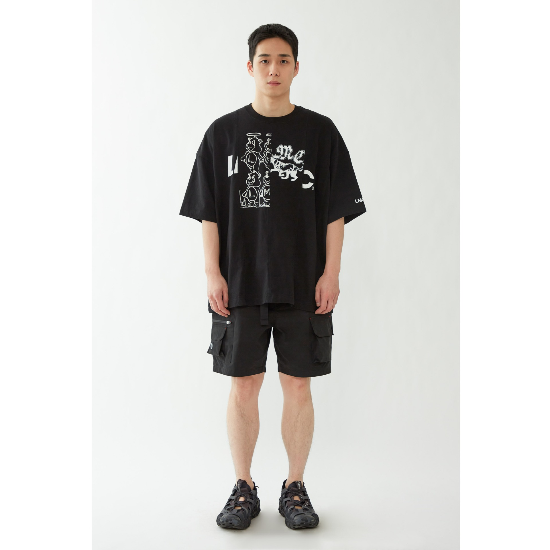 LMC REWORKED OVERSIZED TEE black