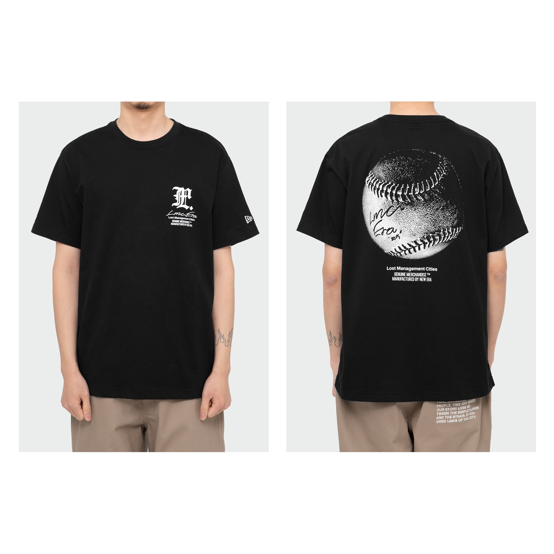 LMC X NEW ERA SIGNED BALL TEE black