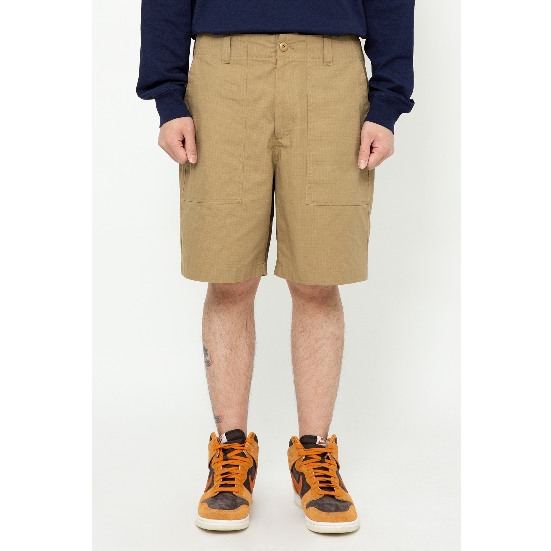 LMC RIPSTOP FATIGUE SHORTS brown