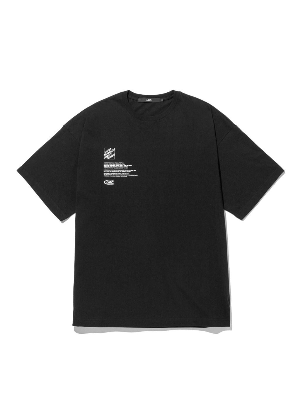 LMC SQUARE FN OVERSIZED TEE black