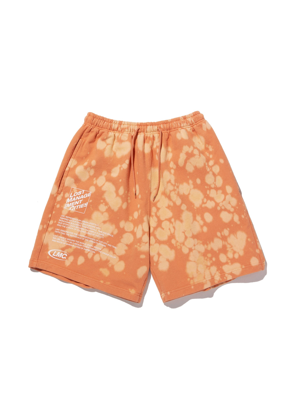 LMC EXPL BLEACH SWEAT SHORTS salmon