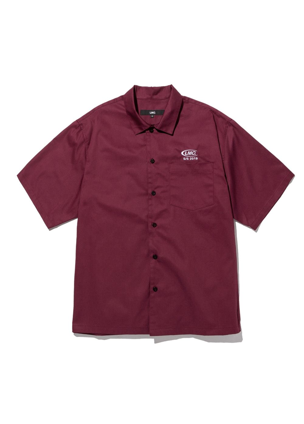 LMC CO SHORT SLV SHIRT burgundy