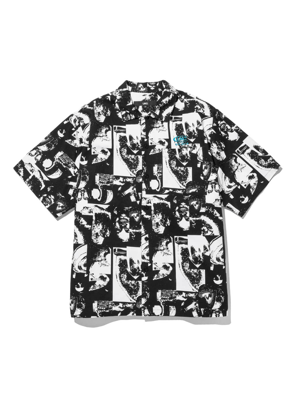 LMC SPACE CO SHORT SLV SHIRT black