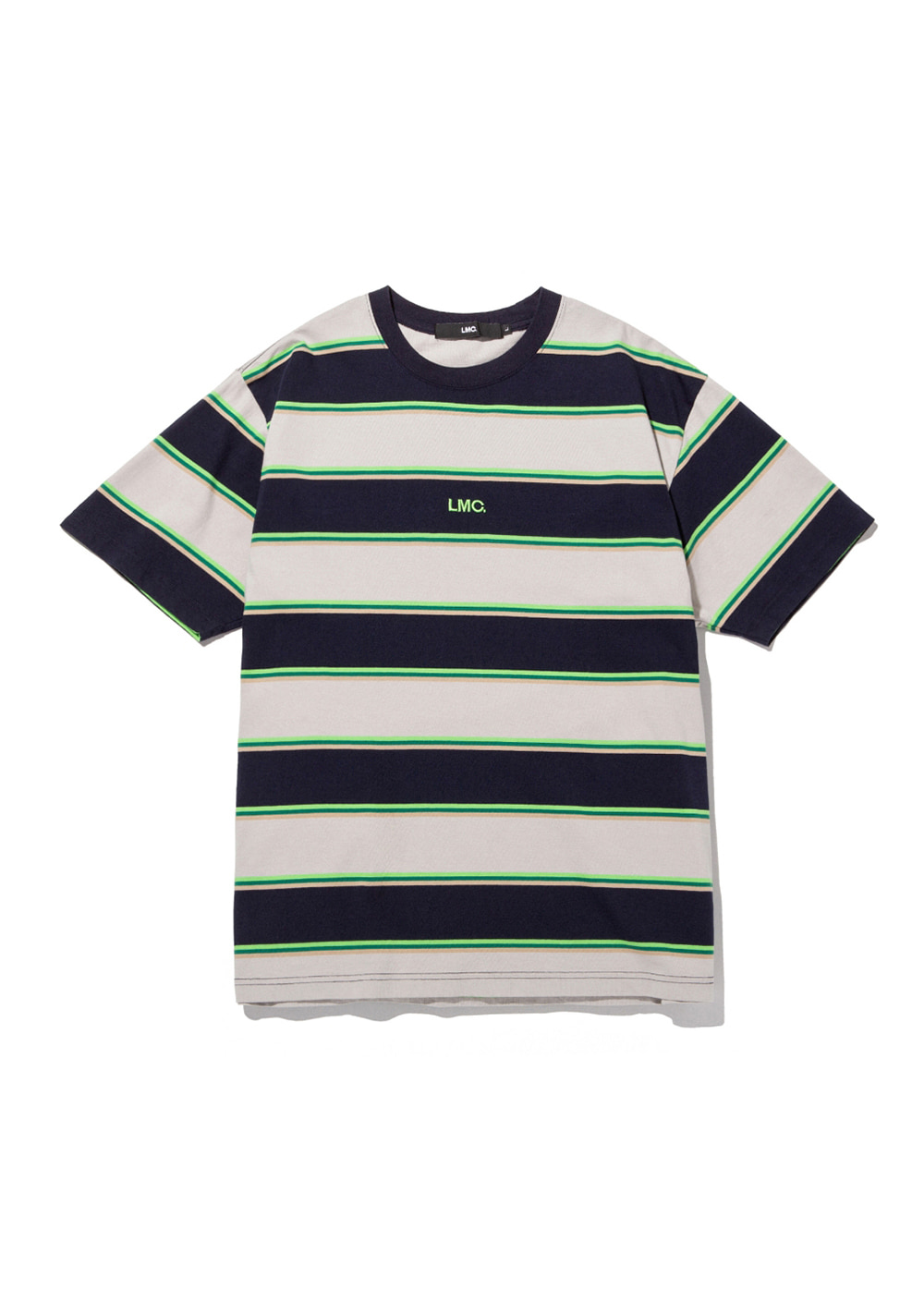 LMC MULTI COLOR STRIPE TEE navy