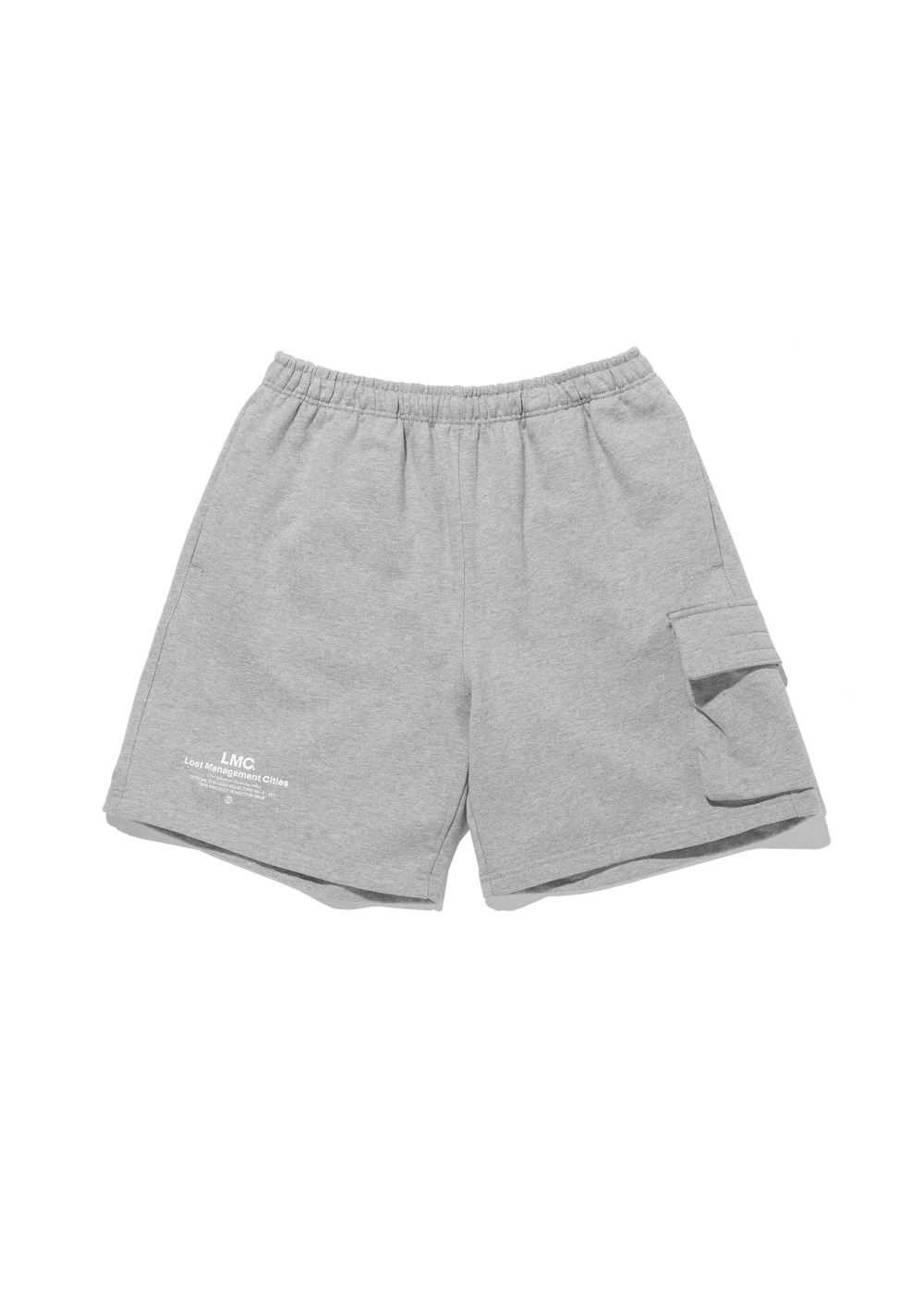 LMC SIDE POCKET SWEAT SHORTS heather gray