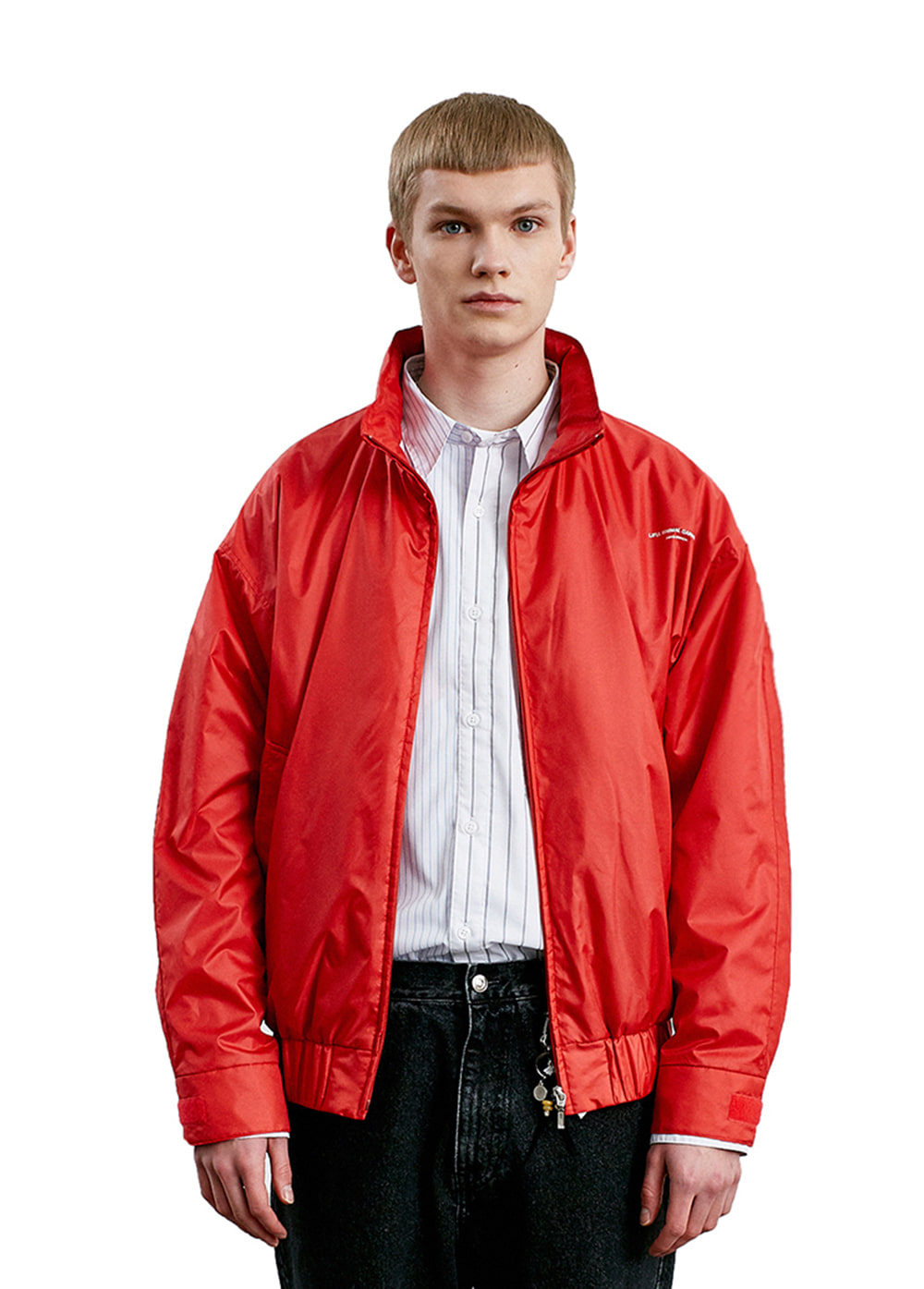 LIFUL LOGO TRACK JACKET red