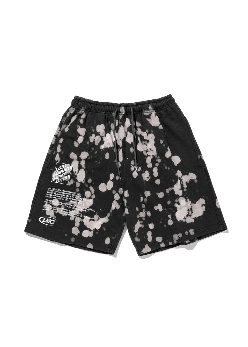 LMC EXPL BLEACH SWEAT SHORTS black