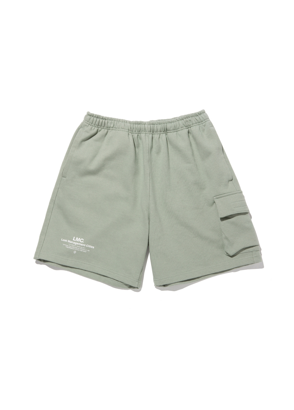 LMC SIDE POCKET SWEAT SHORTS olive