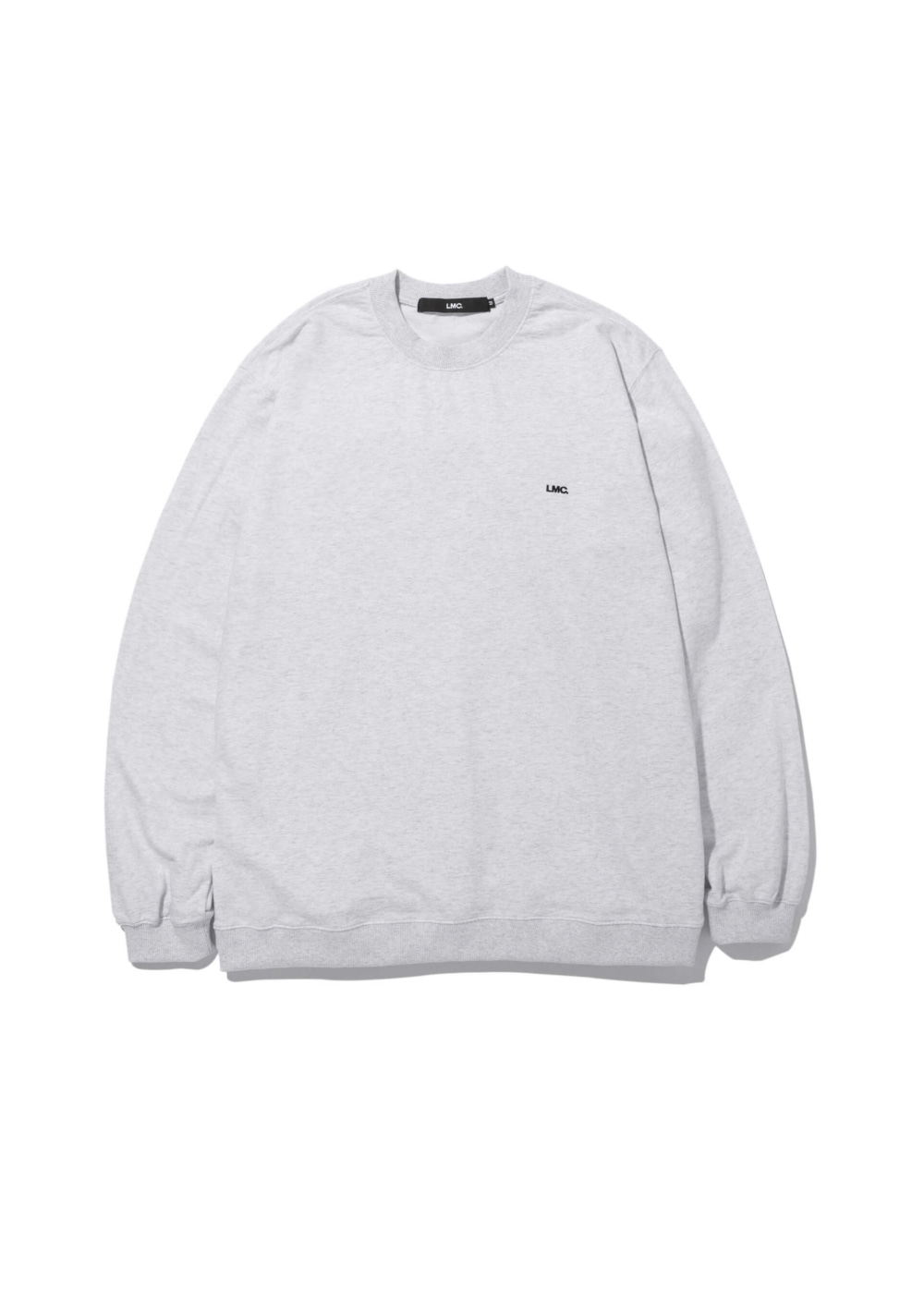 LMC STRAIGHT RIB SWEAT TEE lt. heather gray