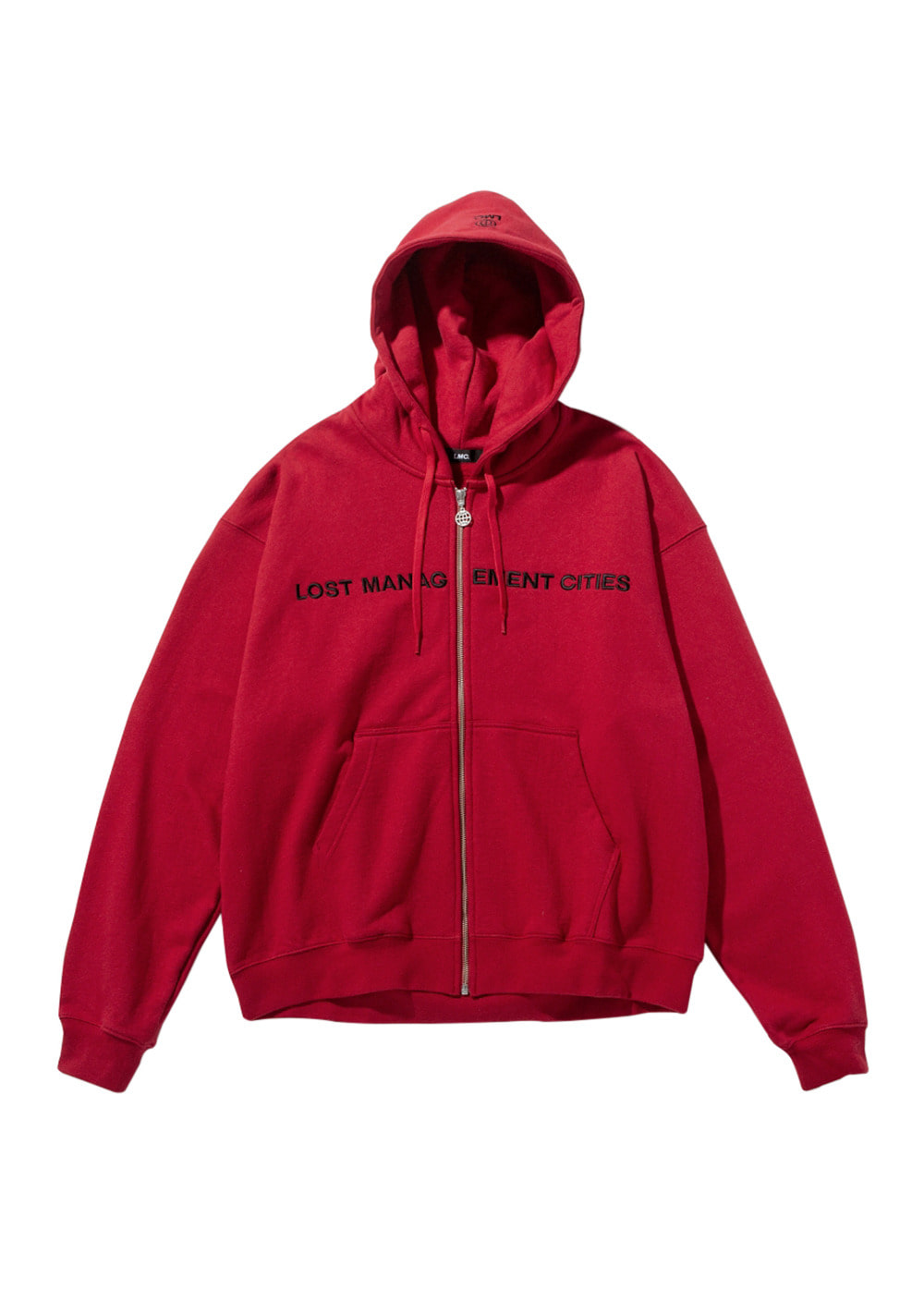 LMC CAPITAL ZIP-UP HOODIE red