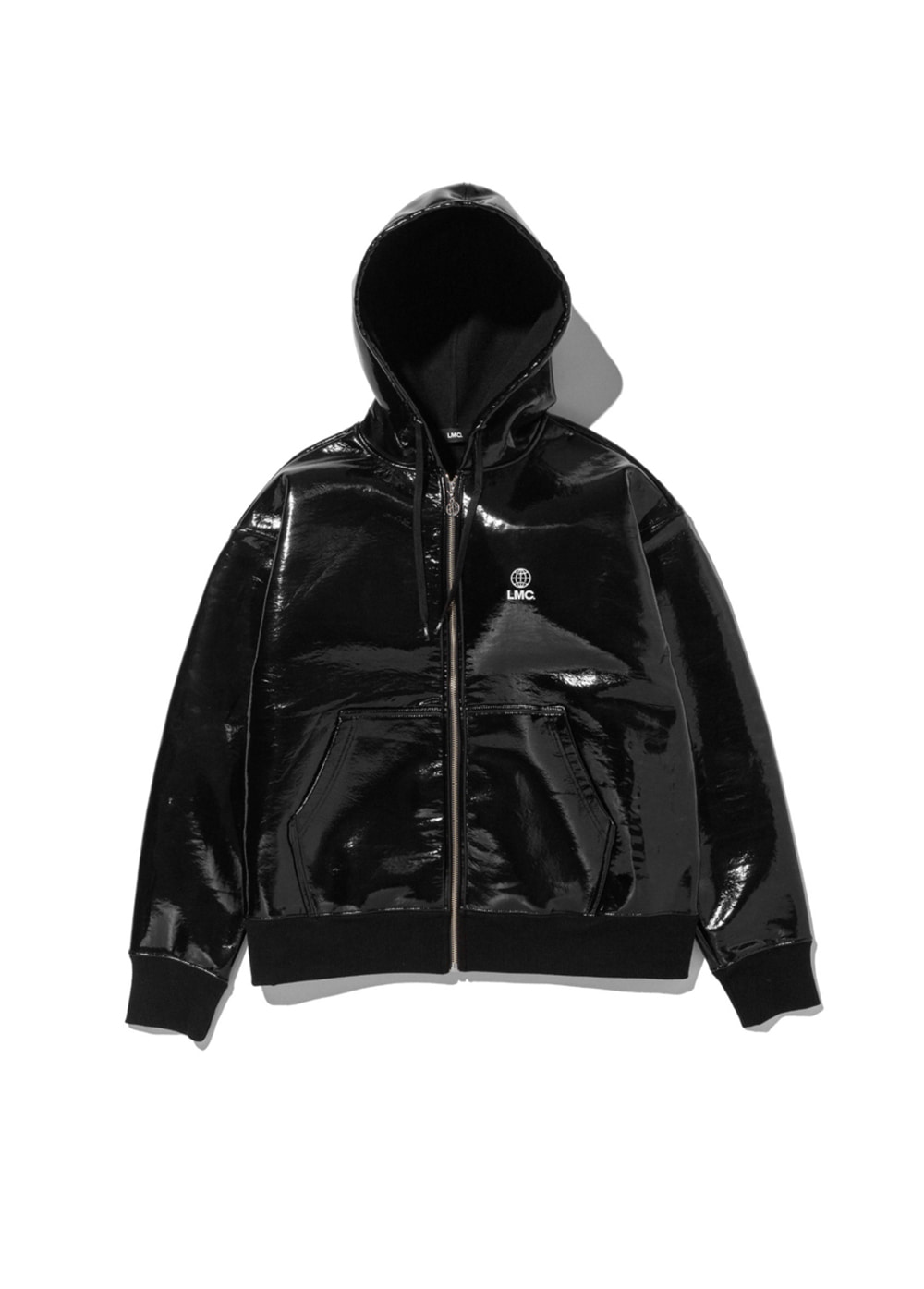 LMC PVC SWEAT ZIP-UP HOODIE black