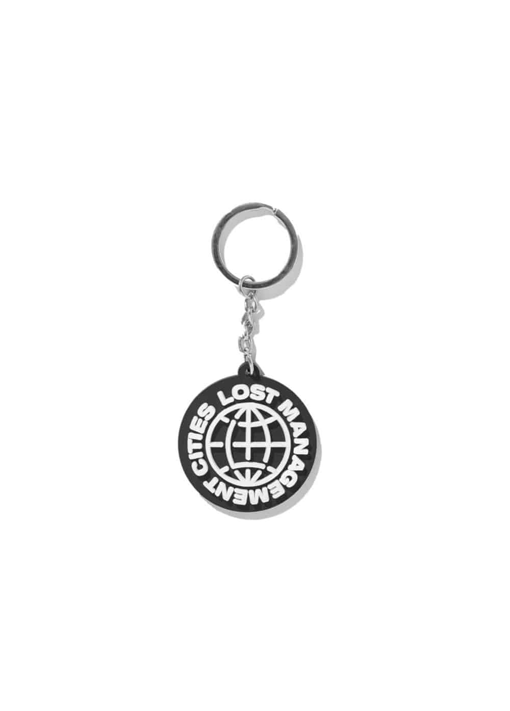 LMC WHEEL RUBBER KEYCHAIN black