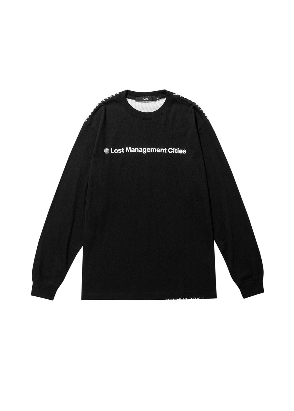 LMC OP ART LONG SLV TEE black