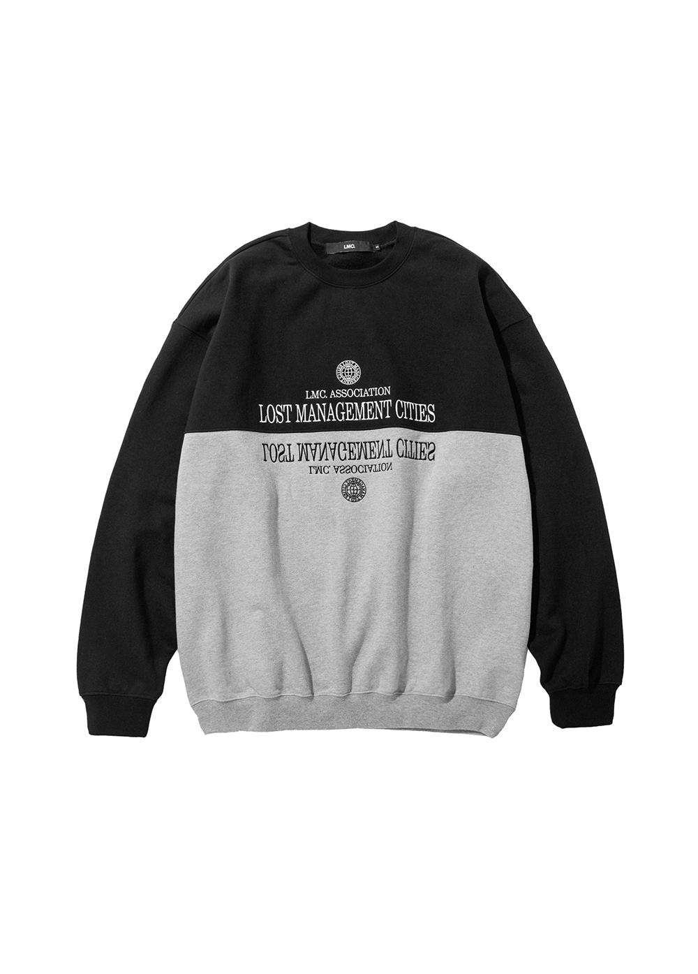 LMC CLASSIC SPLIT OVERSIZED SWEATSHIRT black