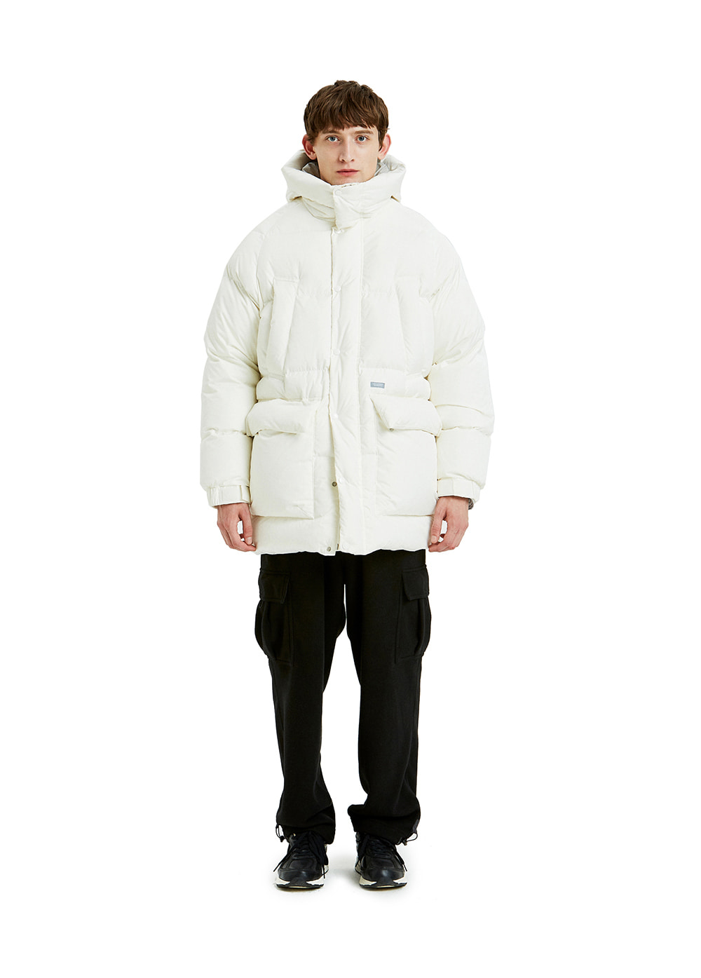 LIFUL OVERSIZED PUFFER LONG DOWN off white