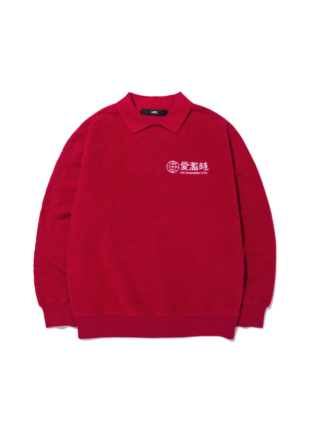 LMC COLLAR SWEATSHIRT red