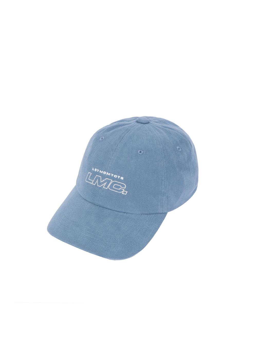 LMC ITALIC OUTLINE 6 PANEL CAP vtg blue