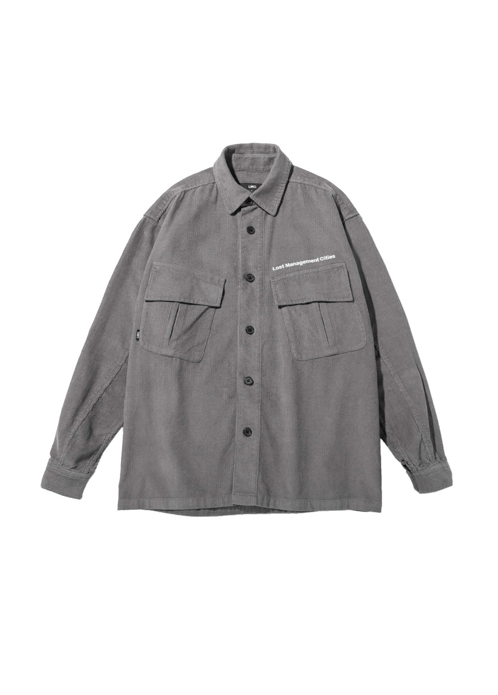 LMC JF CORDUROY SHIRT dark gray