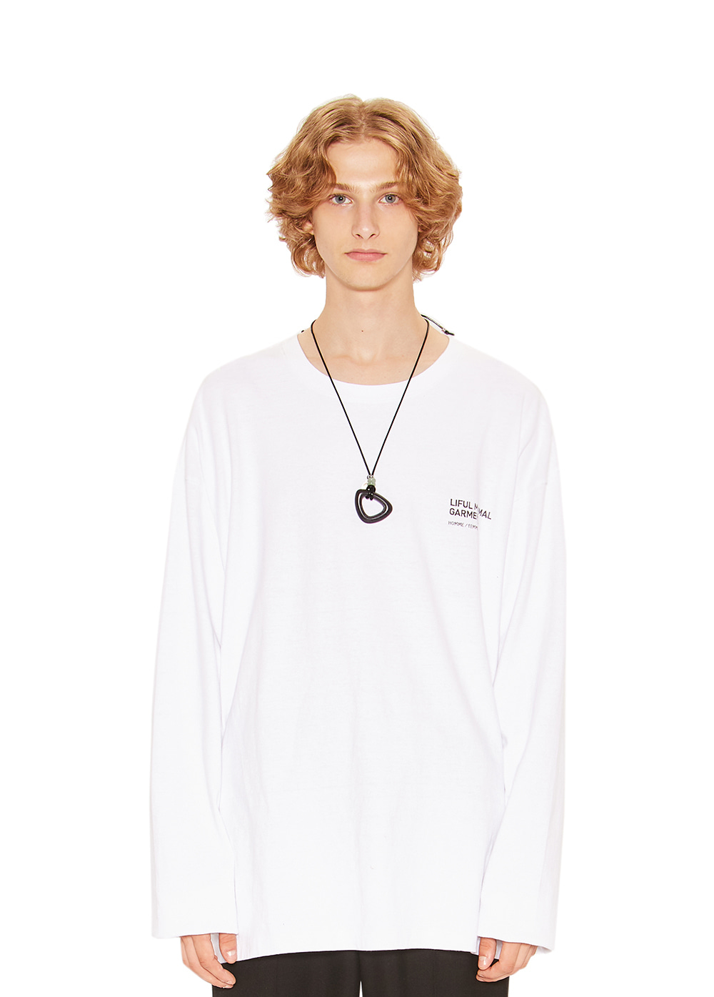 DOODLE LONG SLEEVE TEE white