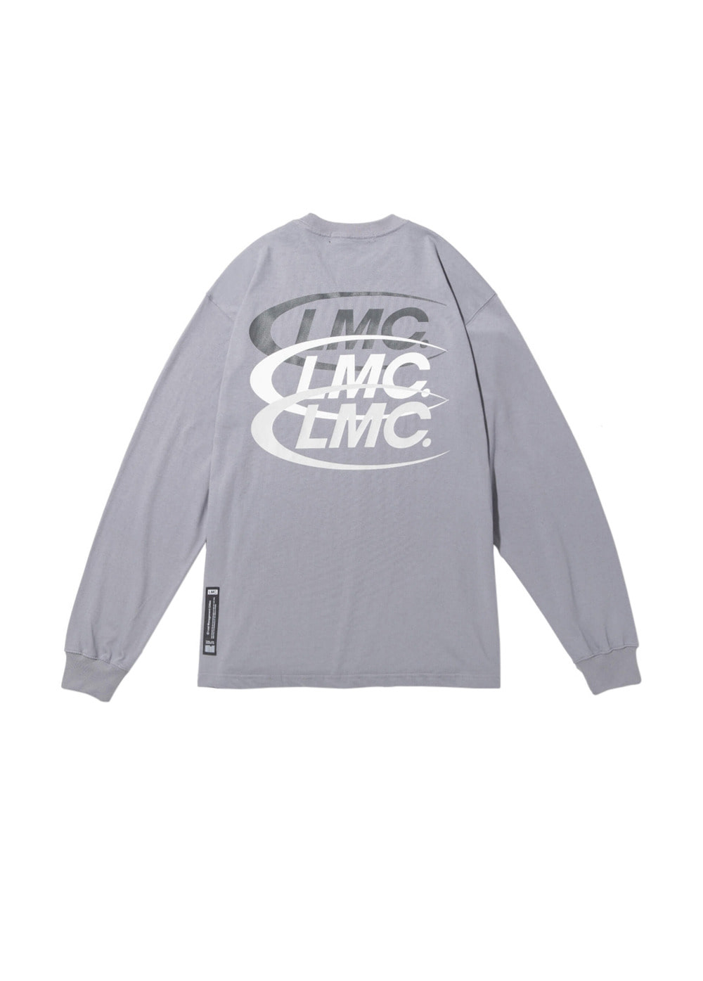 LMC TRIPLE CO LONG SLV TEE gray