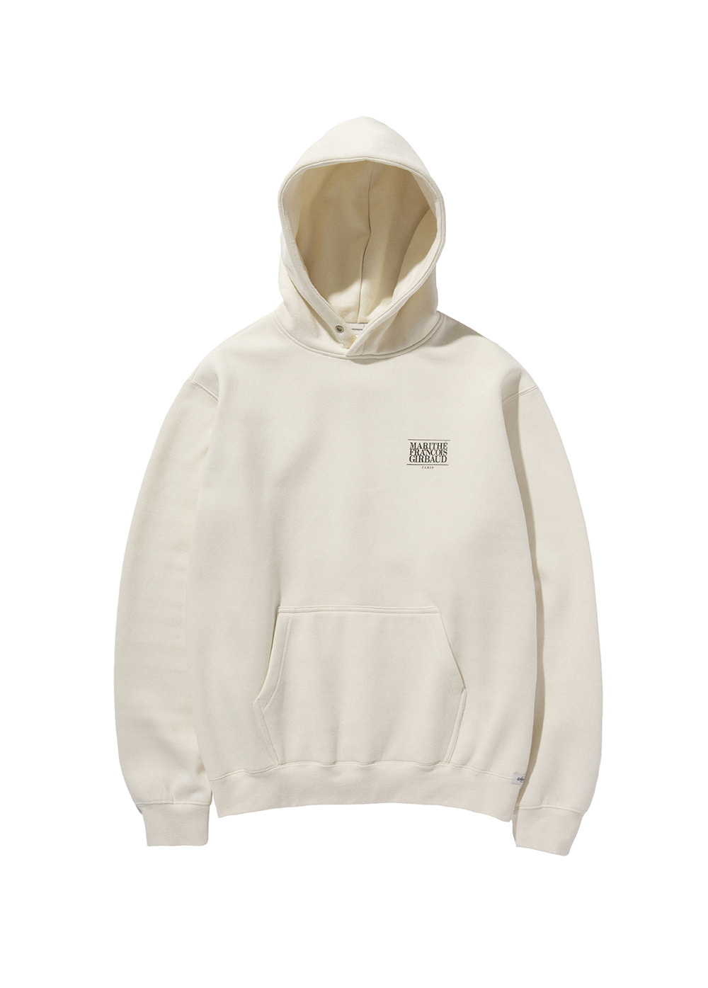 MARITHE CLASSIC LOGO HOODIE off white