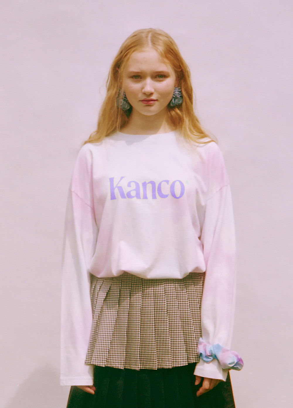 KANCO COTTON CANDY LONG SLEEVE TEE cotton candy