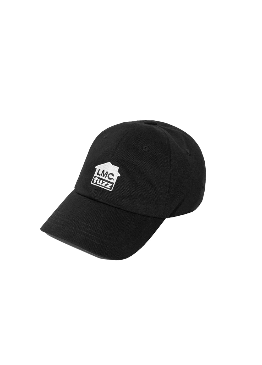 LMC x FUZZ HOUSE 6 PANEL CAP black
